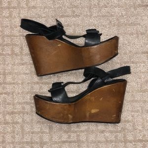 Kork- Ease black and brown wedges